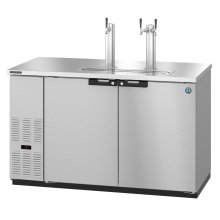 HDD-2-59-S, Refrigerator, Two Section, Stainless Steel Back Bar Direct Draw, Solid Doors