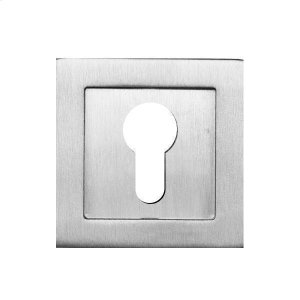 Square flush pull 65x65 with Euro. Cylinder hole, Antique Brass Dark Product Image