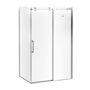 """48"""" 32"""" X 77"""" Sliding Shower Doors With Clear Glass - Chrome Product Image"""