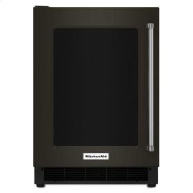 "24"" Undercounter Refrigerator with Glass Door and Metal Trim Shelves - Stainless Steel with PrintShield™ Finish"