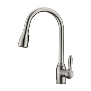 Bistro Single Handle Kitchen Faucet with Single Handle 2 - Brushed Nickel Product Image
