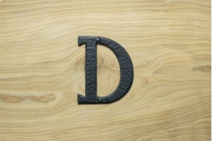 """D Black 4"""" Mailbox House Number 450150 Product Image"""