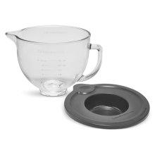 5 Quart Tilt-Head Glass Bowl with Measurement Markings & Lid - Other