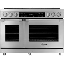 "48"" Heritage Dual Fuel Pro Range, Silver Stainless Steel, Natural Gas"