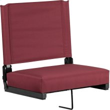 Grandstand Comfort Seats by Flash with Ultra-Padded Seat in Maroon