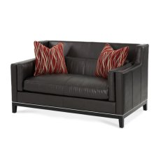 Group 1 Opt 1 Leather Loveseat Blk/Red