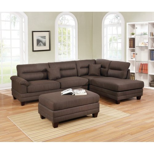 F6586 / Cat.19.p9- 3PCS SECTIONAL BLK COFFEE