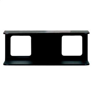 Aeri large dual shelf wall mount wood structure for two washbasins. Product Image