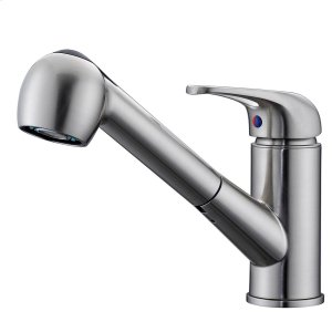 Sable Single Handle Kitchen Faucet with Pull-Out Spray - Brushed Nickel Product Image