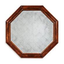 Large octagonal crotch mahogany mirror ( glomise)
