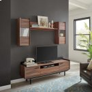 Visionary 2 Piece Entertainment Center in Walnut Black Product Image