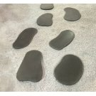 Renava Ouray Outdoor Grey Concrete Stepping Stones (Set of 6) Product Image