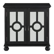 Accent Chest with Mirror Door-Antique Black, 3A