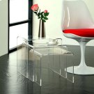 Casper Nesting Table in Clear Product Image