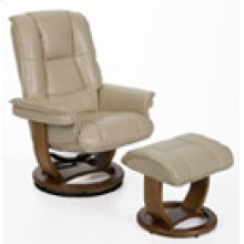 R-116 Pluto Neutral Leather Recliner