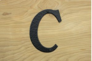 "C Black 6"" Mailbox House Number 450150 Product Image"