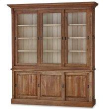 "Hudson 88"" Bookcase w/ 3 Sliding Doors"