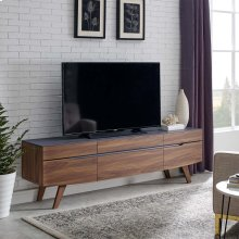 "Scope 71"" TV Stand in Walnut Gray"