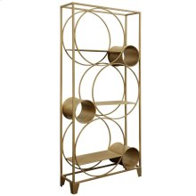 STANTON BOOKSHELF- GOLD  Gold Finish on Metal Frame