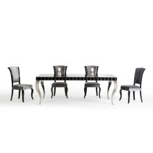 Versus Mia & Seema Modern Black & Grey Dining Set
