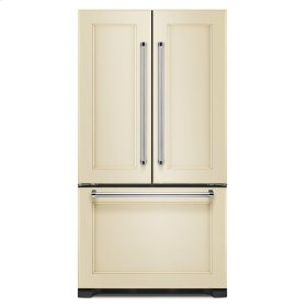 22 cu. ft. 36-Inch Width Counter Depth Panel Ready with Interior Dispense French Door Refrigerator