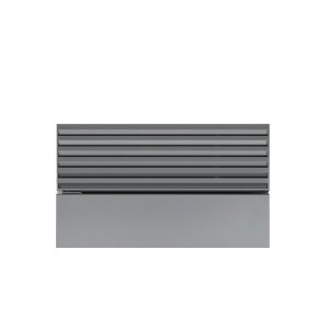"""Classic 48"""" Stainless Steel Pro Louvered Grille - 83"""" Finished Height"""