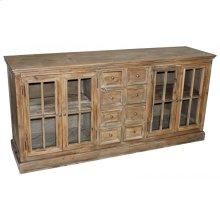Pine 4-Door & 8-Drawer Buffet