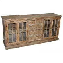 Pine 4-Door & 8-Drawer Buffet
