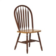 DLU-820-NLO-2  Arrowback Dining Chair in Nutmeg with Light Oak Seat  Set of 2