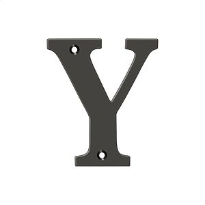 """4"""" Residential Letter Y - Oil-rubbed Bronze Product Image"""