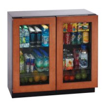 "Overlay Frame Double Door Modular 3000 Series / 36"" Glass Door Refrigerator / Dual Zone Convection Cooling System"