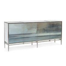 Slated Four-Door Credenza