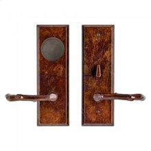Rectangular Card Lock Trim Silicon Bronze Brushed