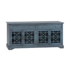 "Craftsman Antique Blue 70"" TV Console"