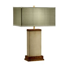 Ivory Finish Hyedua Rectangular Table Lamp
