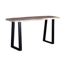 Crossover Natural Console Tables with different bases, SB-AUT-28N