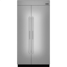 "42""(w) Fully Integrated Built-In Side by Side Refrigerator Panel Kit., Pro-Style® Stainless Handle"
