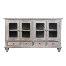 CC-CAB1141S-LW  Cottage Distressed Gray Wood Sideboard