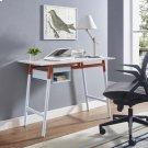 Respite Wood Writing Desk in White Orange Product Image
