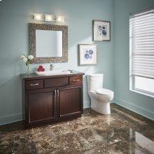 White Wicker Park Single Hole Self-rimming Bathroom Sink