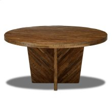 Delmar Dining Table  Mango Wood with Distressed Walnut Finish