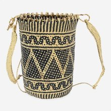 Madura Pattern Basket With Handle