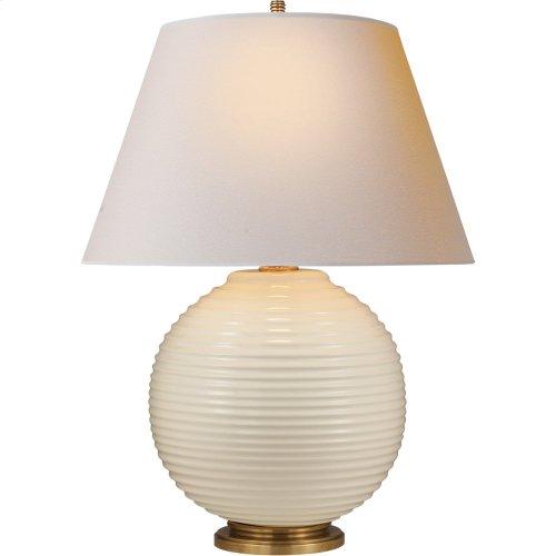 Visual Comfort AH3105I-NP Alexa Hampton Hugo 26 inch 150 watt Ivory Ceramic Decorative Table Lamp Portable Light