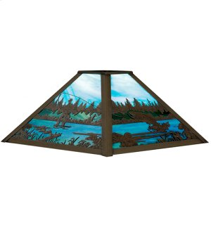 """13"""" Square Fly Fishing Creek Shade Product Image"""