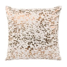 Leather Speckled Gold Pillow