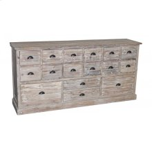 16-Drawer Reclaimed Pine Dresser