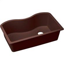 "Elkay Quartz Classic 33"" x 20"" x 9-1/2"", Single Bowl Undermount Sink, Pecan"