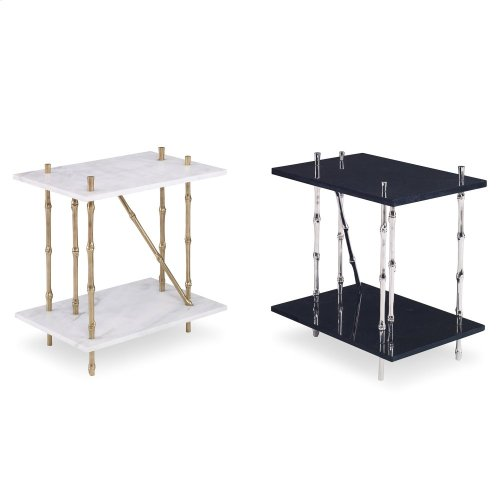 Bamboo End Table - Granite Top
