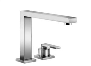 Two-hole mixer with individual flanges - chrome Product Image