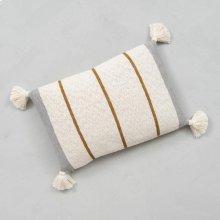 Striped Tassel Pillow